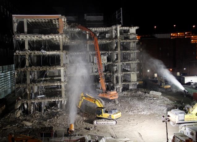 demolition at Cramblett Hall