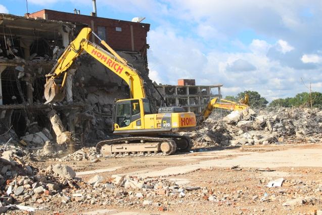 Feed the Children demolition site