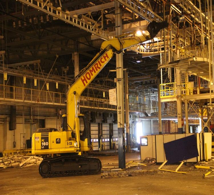 GM Plant demolition in Moraine, Ohio