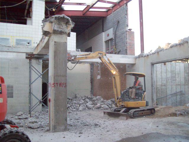 Michigan State University Wells Hall demolition