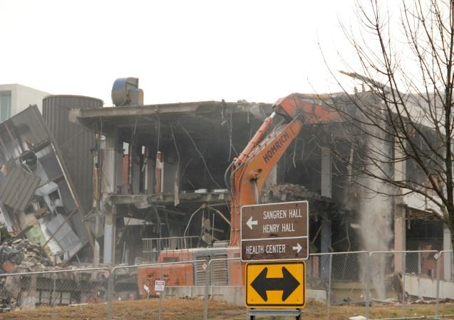 Sangren Hall demolition