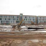 Sangren Hall demolition site with Homrich demolition