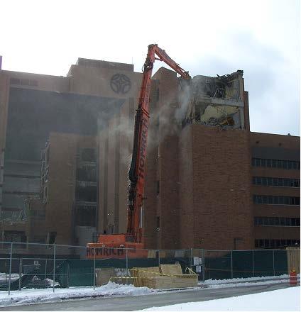 St. Joseph demolition project by Homrich Demolition