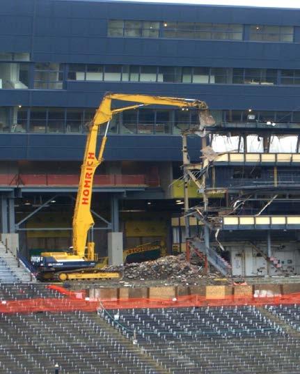 University of Michigan press box demolition