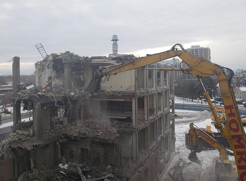 Homrich Demolition project tear-down